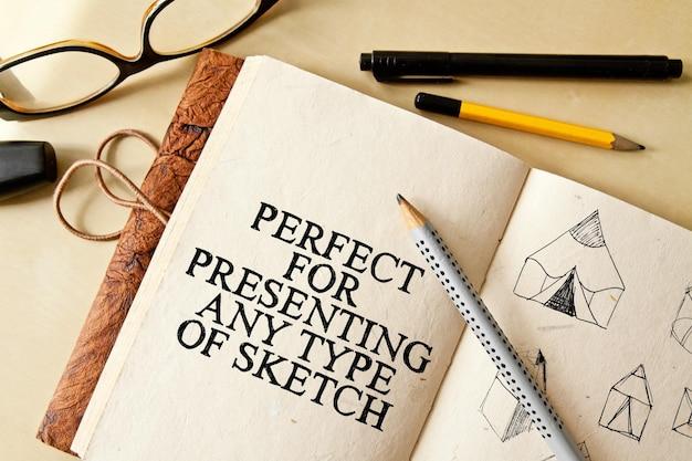 Desenho de sketch pad mock-ups