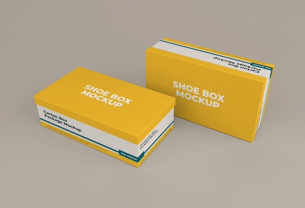 Desenho isolado de maquete de caixa de sapato