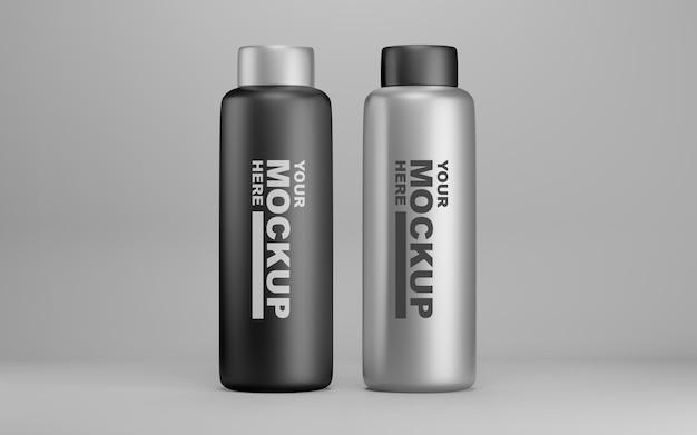 Desenhos de maquete de garrafa de água editáveis e realistas