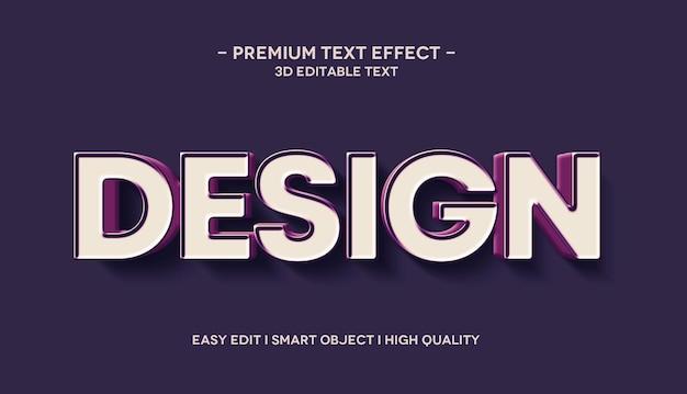 Design 3d text effect mockup template