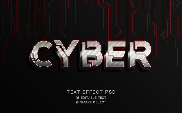 Design cibernético de efeito de texto