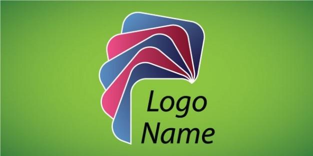 Design colorido livros logotipo