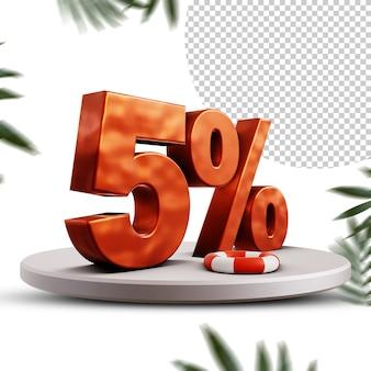Design com desconto de 5 por cento no verão