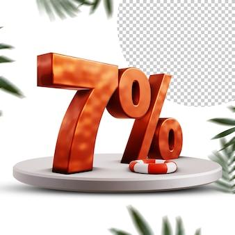 Design com desconto de verão de 7 por cento