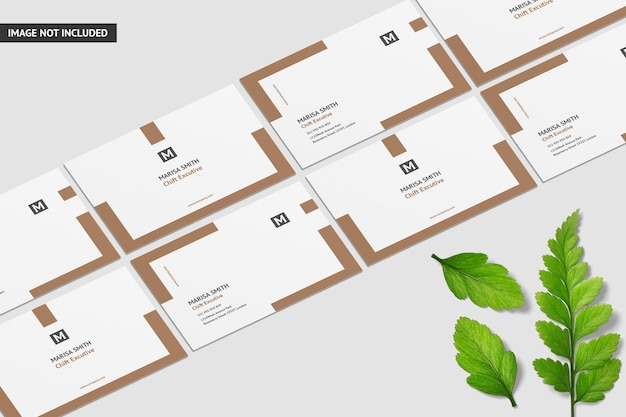 Design criativo de maquete de cartão de visita