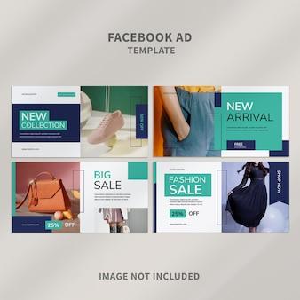 Design criativo do modelo de anúncio do facebook