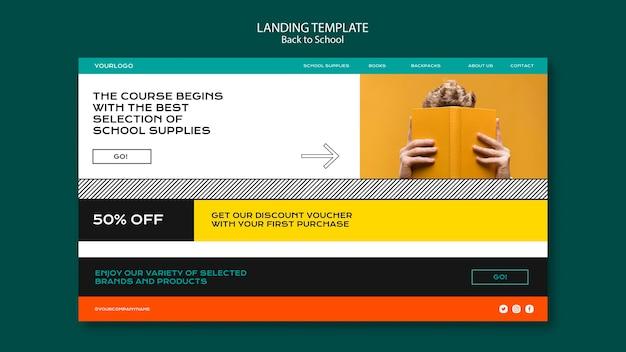 Design da página de destino de volta às aulas