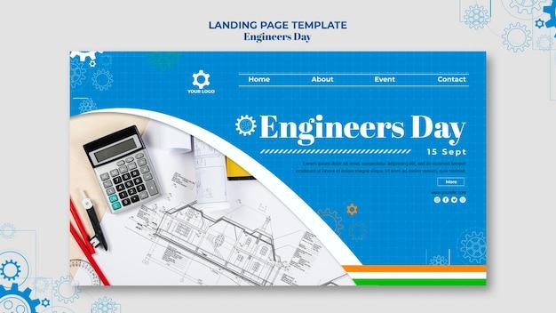 Design da página de destino do dia dos engenheiros