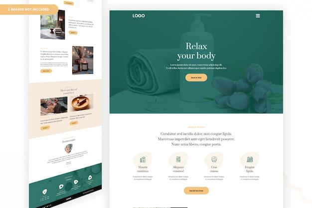 Design da página do salão de beleza