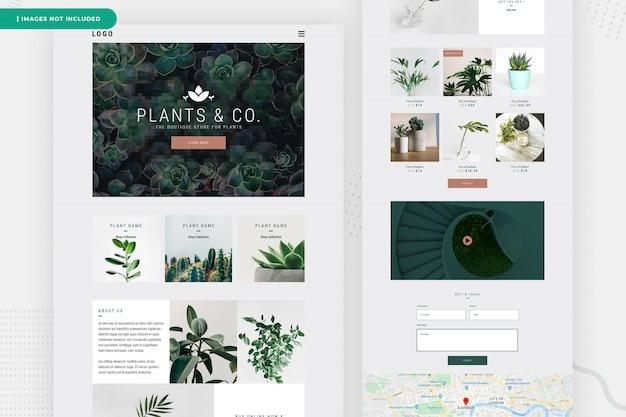 Design da página do site da planta on-line