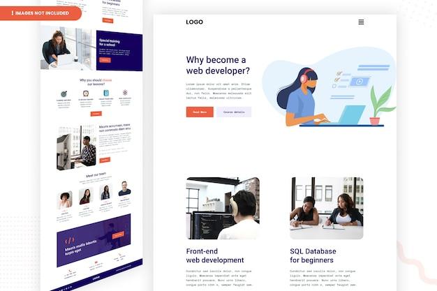 Design da página do site do desenvolvedor web