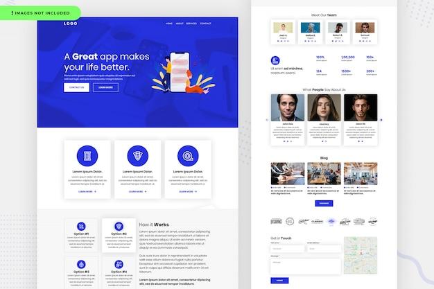 Design da página do site