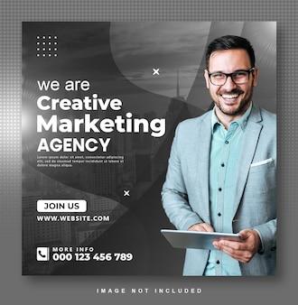 Design da postagem do instagram de marketing digital