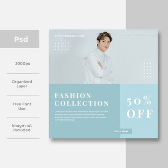Design de anúncio de banner de mídia social de moda