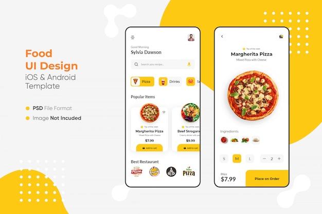 Design de aplicativo de comida