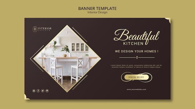 Design de bandeira de design de interiores