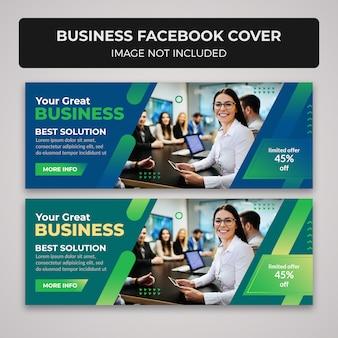 Design de banner de capa de facebook comercial