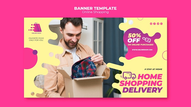 Design de banner de compras online