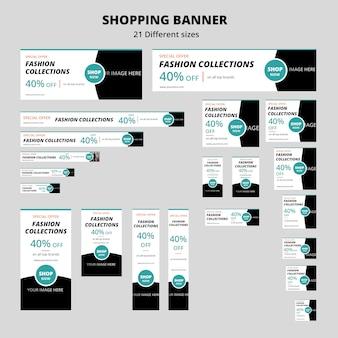 Design de banner de compras