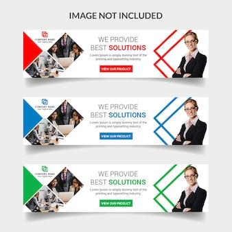 Design de banner de web de negócios