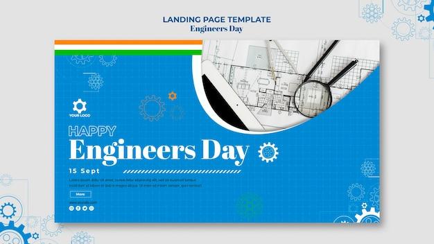 Design de banner do dia dos engenheiros