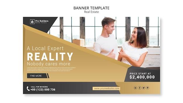 Design de banner imobiliário