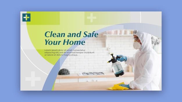Design de banner limpo e seguro