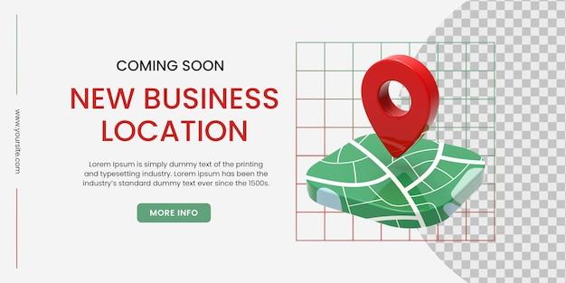 Design de banner para apresentar novo local de negócios