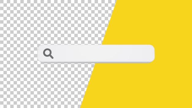 Design de barra de pesquisa 3d