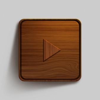 Design de botão de madeira