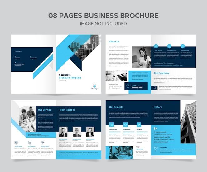 Design de brochura criativa corporativa