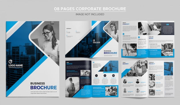 Design de brochuras corporativas de 08 páginas
