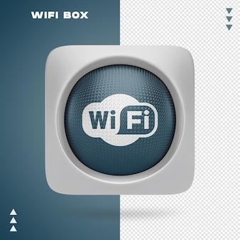 Design de caixa wi-fi em renderização 3d