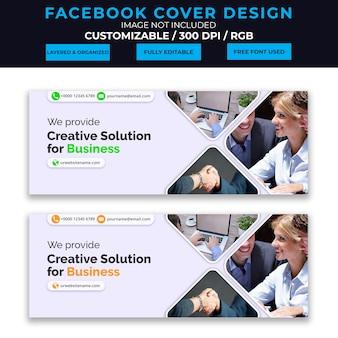 Design de capa de facebook comercial