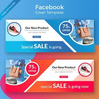 Design de capa do faacebook de promoção de produto