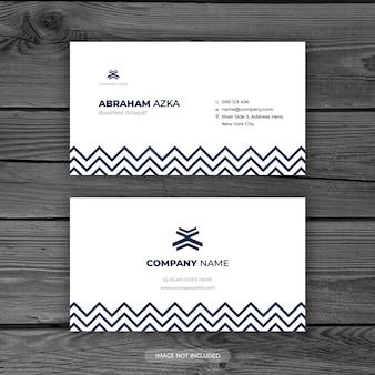 Design de cartão azul branco moderno com conceito corporativo