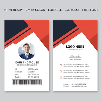 Design de cartão de identificação corporativa