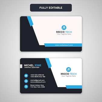 Design de cartão de visita criativo