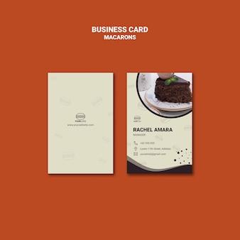 Design de cartão de visita macarons