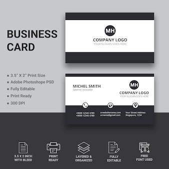 Design de cartão de visita minimalista