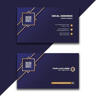 Design de cartão de visita profissional corporativo