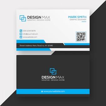 Design de cartão de visita profissional limpo