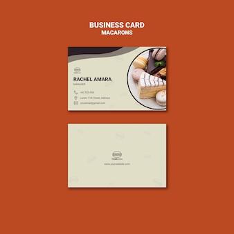 Design de cartão de visita saborosos macarons
