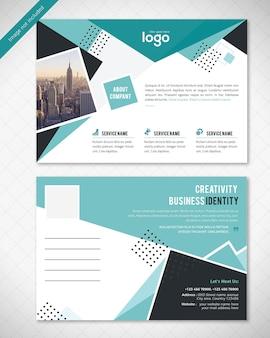 Design de cartão postal abstrato