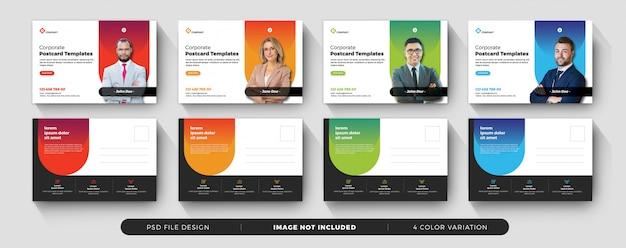 Design de cartão postal de negócios corporativos psd