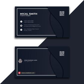 Design de cartão preto mínimo