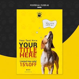 Design de cartaz bonito animal de estimação