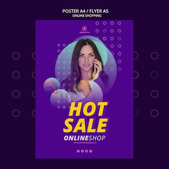 Design de cartaz compras online