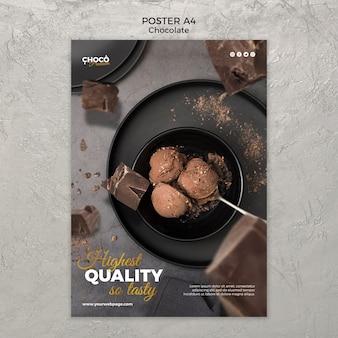 Design de cartaz conceito chocolate