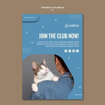 Design de cartaz conceito gato amante